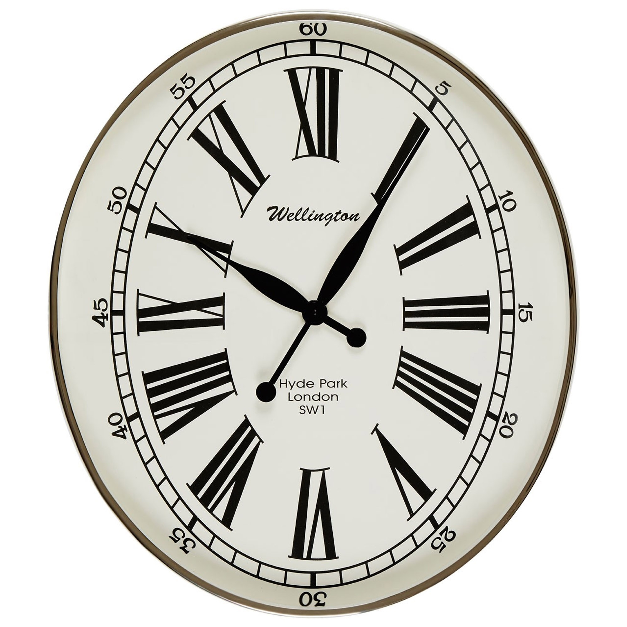 Hampstead oval wall clock