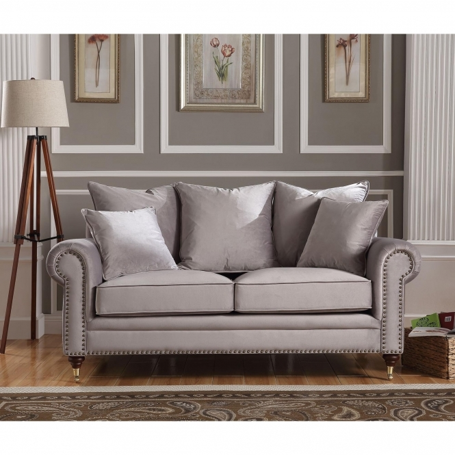 Hampton 2 Seater Grey Sofa