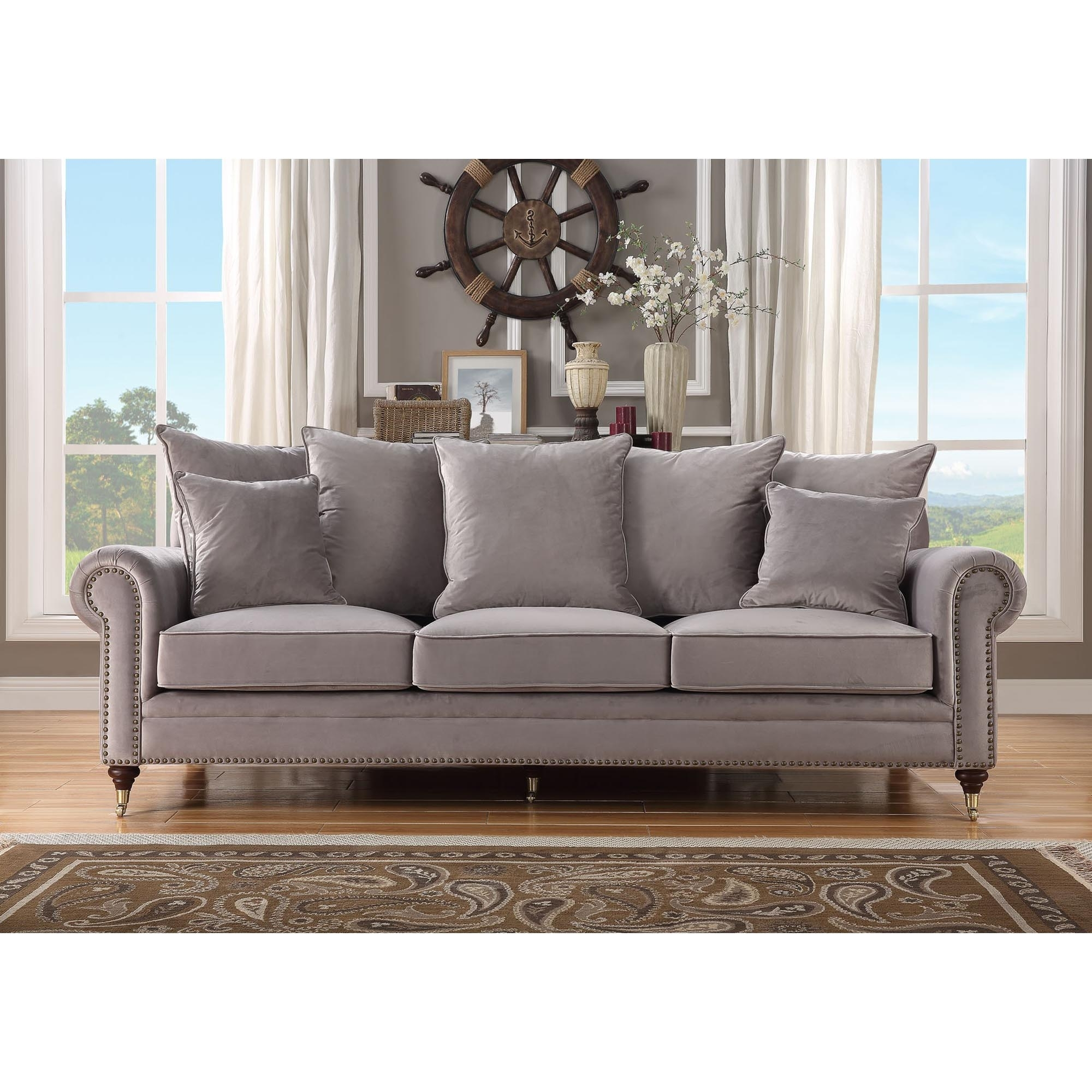 Beautiful Hampton 3 Seater Grey Sofa