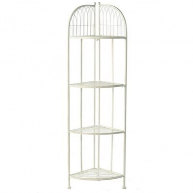 Hampton Cream 4 Tier Shabby Chic Corner Shelf