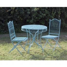 hampton turquoise shabby chic table set