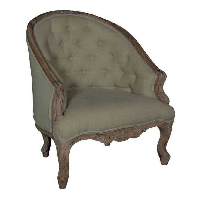 Hand Carved Antique French Style Armchair