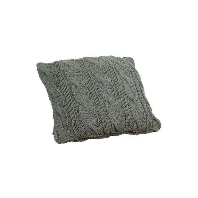 Hand Knitted Cable Dark Cushion