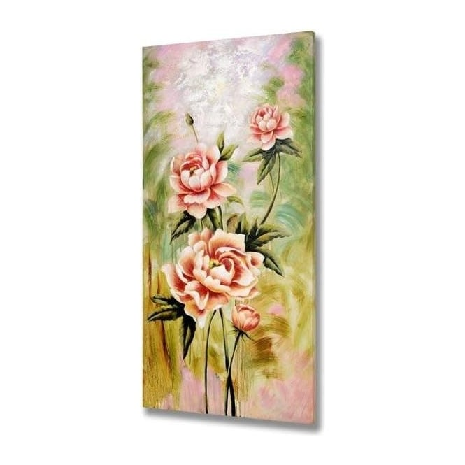 Hand Painted Floral Canvas