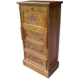 Handcarved Antique French Style Chest Bureau