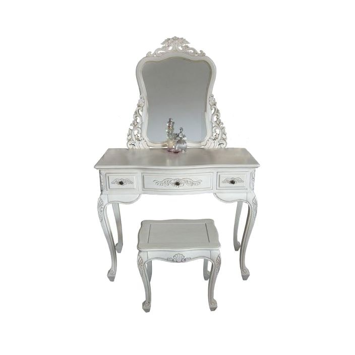Handcarved Ivory Antique French Dressing Table Set