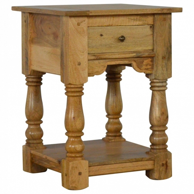Handmade Mango 1 Drawer Bedside Table