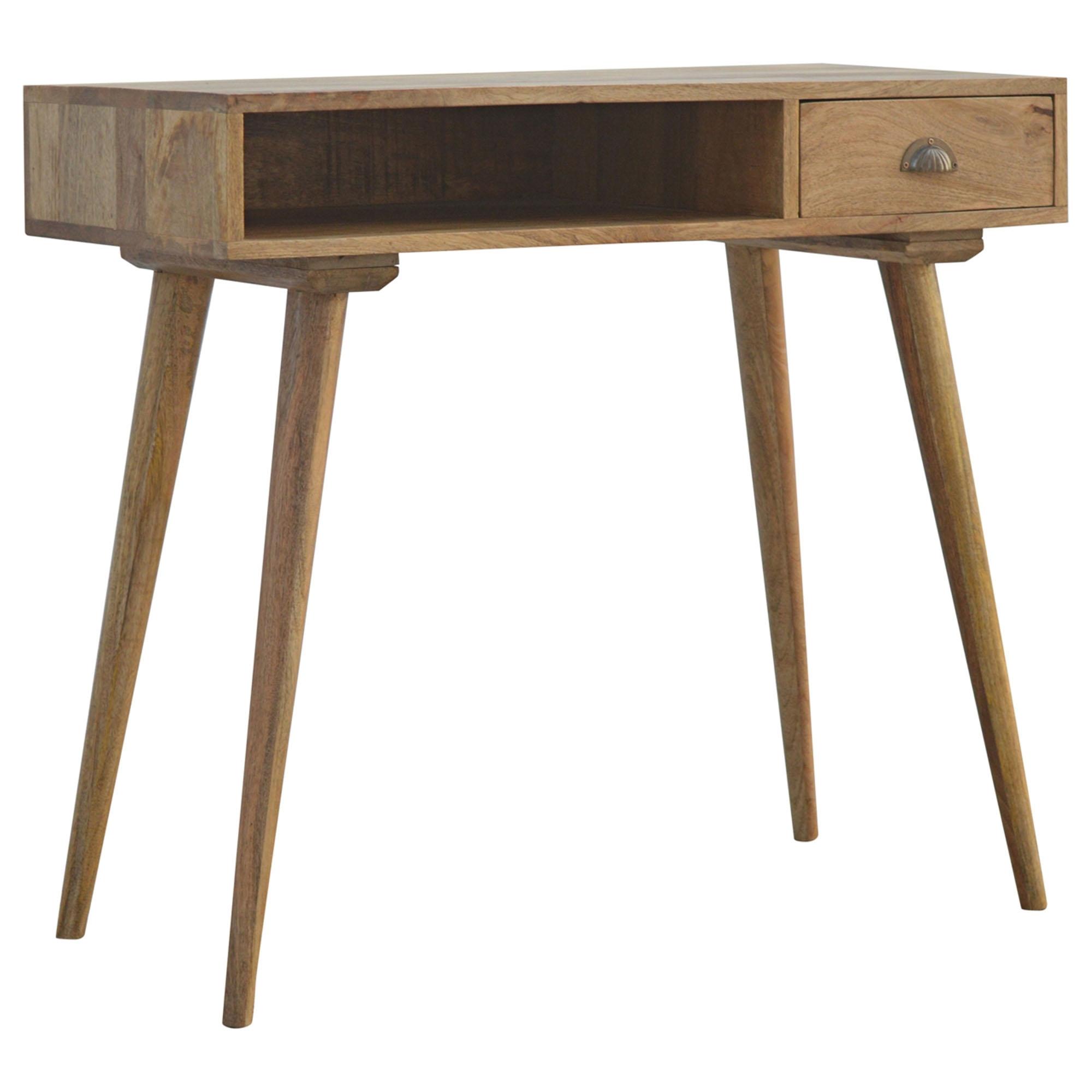 size 40 b12fb c7f61 Handmade Mango 1 Drawer Open Shelf Console Table
