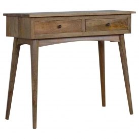 Handmade Mango 2 Drawer Console Table