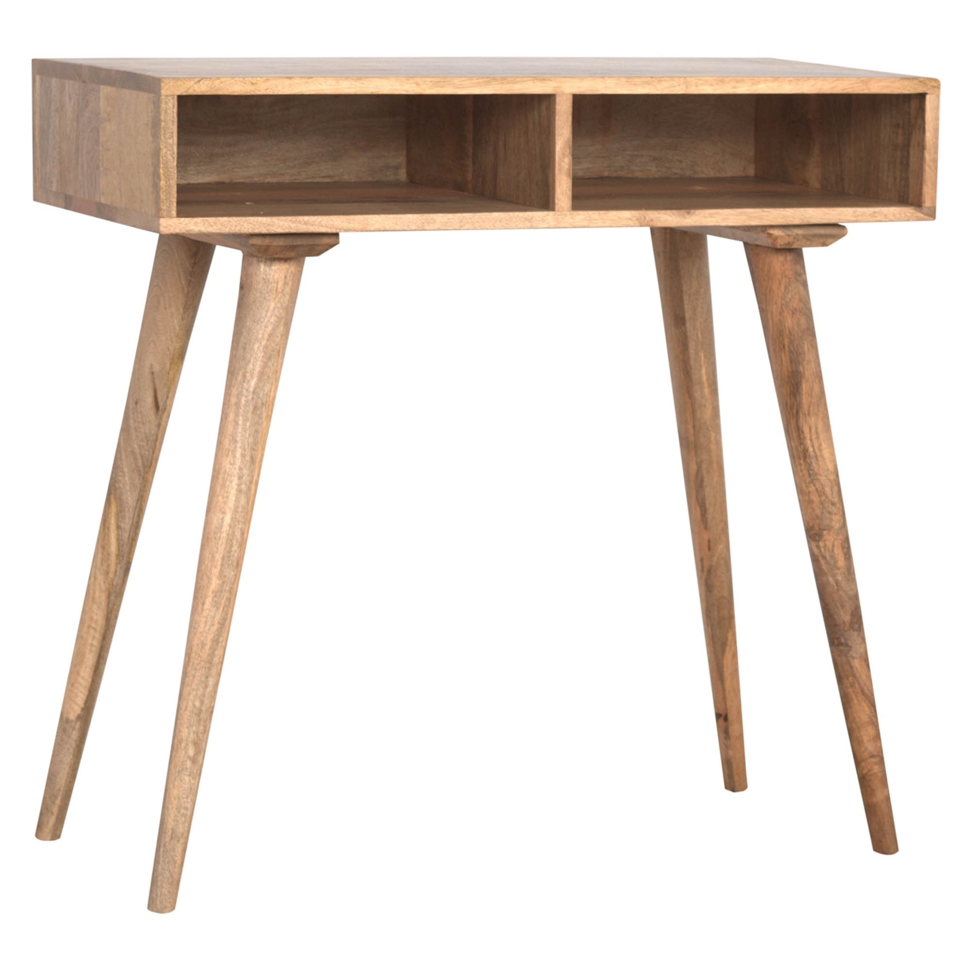 Peachy Handmade Mango 2 Open Shelf Console Table Pabps2019 Chair Design Images Pabps2019Com