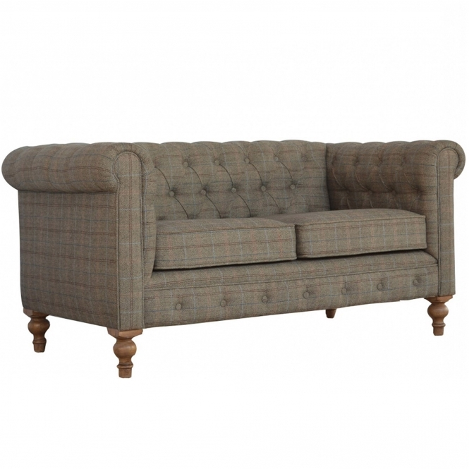 Handmade Mango 2 Seater Tweed Sofa