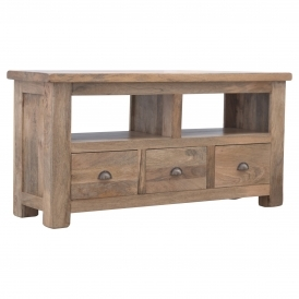 Handmade Mango 3 Drawer 1 Shelf TV Stand