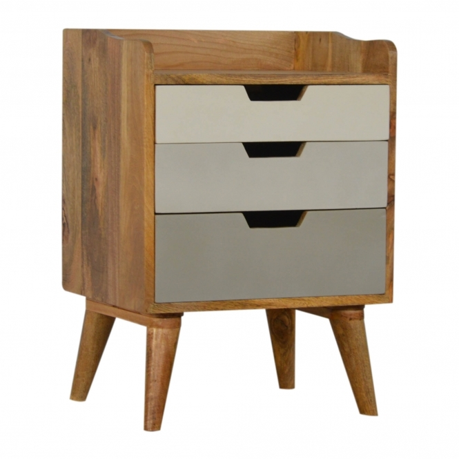 Handmade Mango 3 Drawer Bedside Table