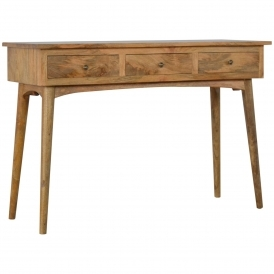 Handmade Mango 3 Drawer Console Table