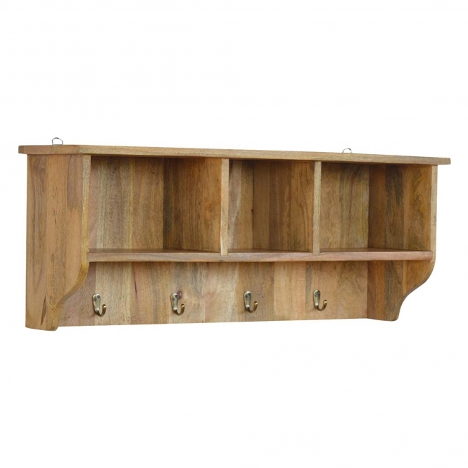 Handmade Mango Coat Hanger Wall Unit