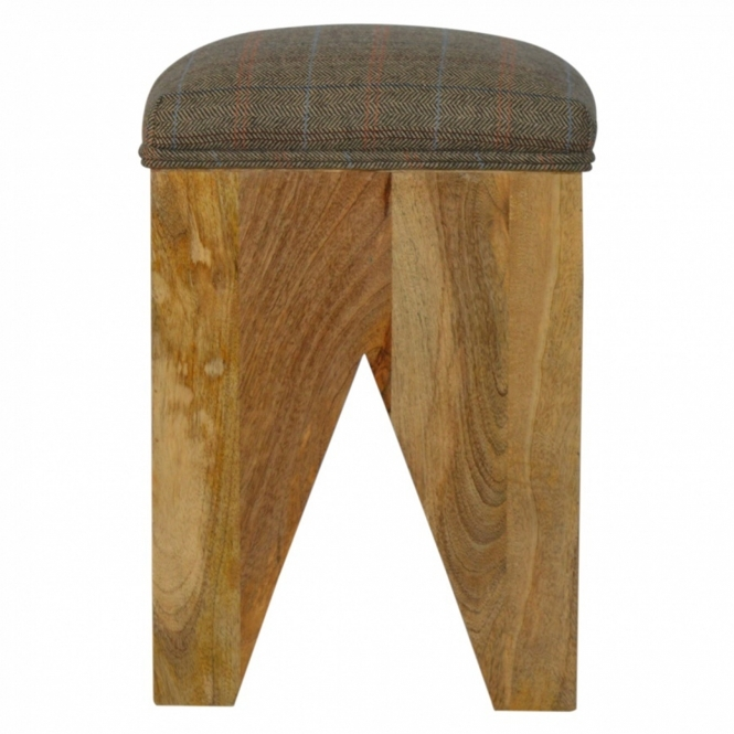 Handmade Mango Cut Out Seat Pad Bar Stool
