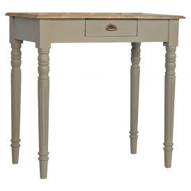 Handmade Mango Grey 1 Drawer Console Table