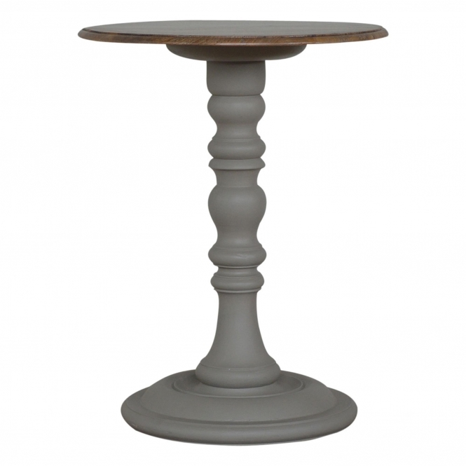 Handmade Mango Grey Round Wine Table