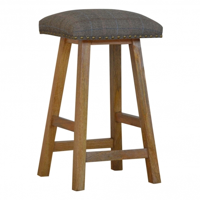 Handmade Mango Multi Tweed Bar Stool