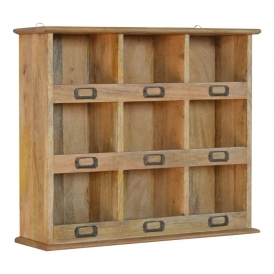 Handmade Mango Storage Wall Unit