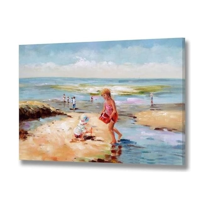 Handpainted Beach Scene Canvas