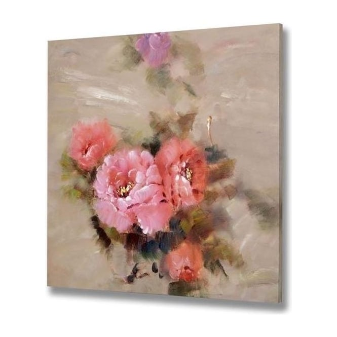Handpainted Floral Canvas