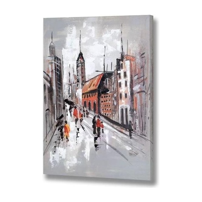 Handpainted Street Scene Canvas