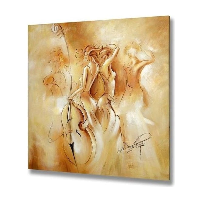 Handpainted Women Canvas