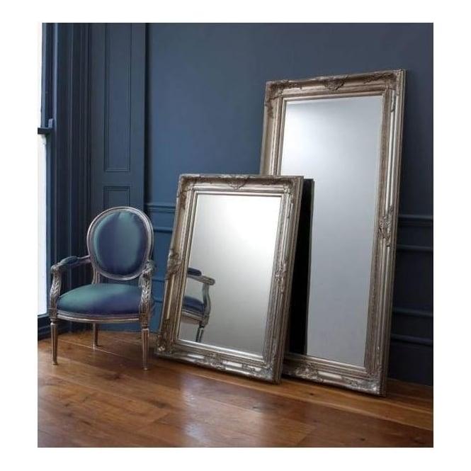 Harrow Leaner Silver Floorstanding Mirror French Mirrors