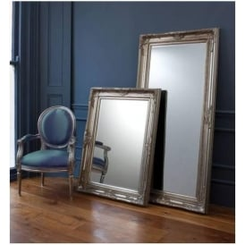 Harrow Leaner Silver Floorstanding Mirror