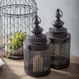 Hayling 2 Pack Metal Lantern