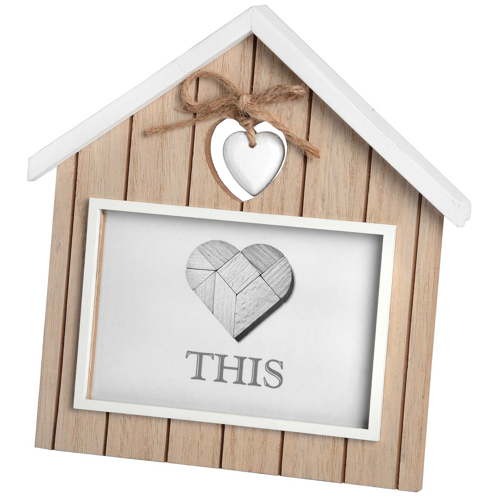 Heart Home Shaped 6 X 4 Photo Frame Homesdirect365