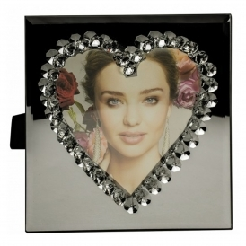 Heart Mirrored Photo Frame