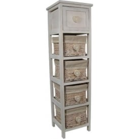 Heart Shabby Chic Storage Drawers