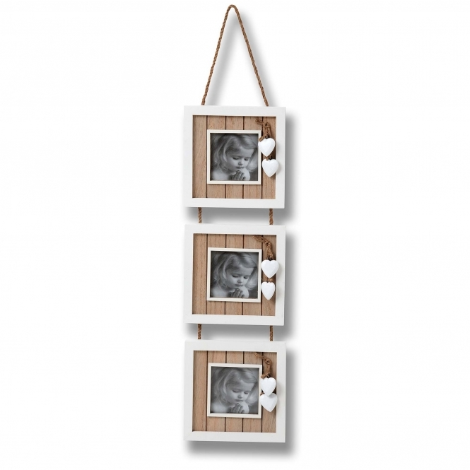 Hearts 4 x 4 Triple Hanging Photo Frame