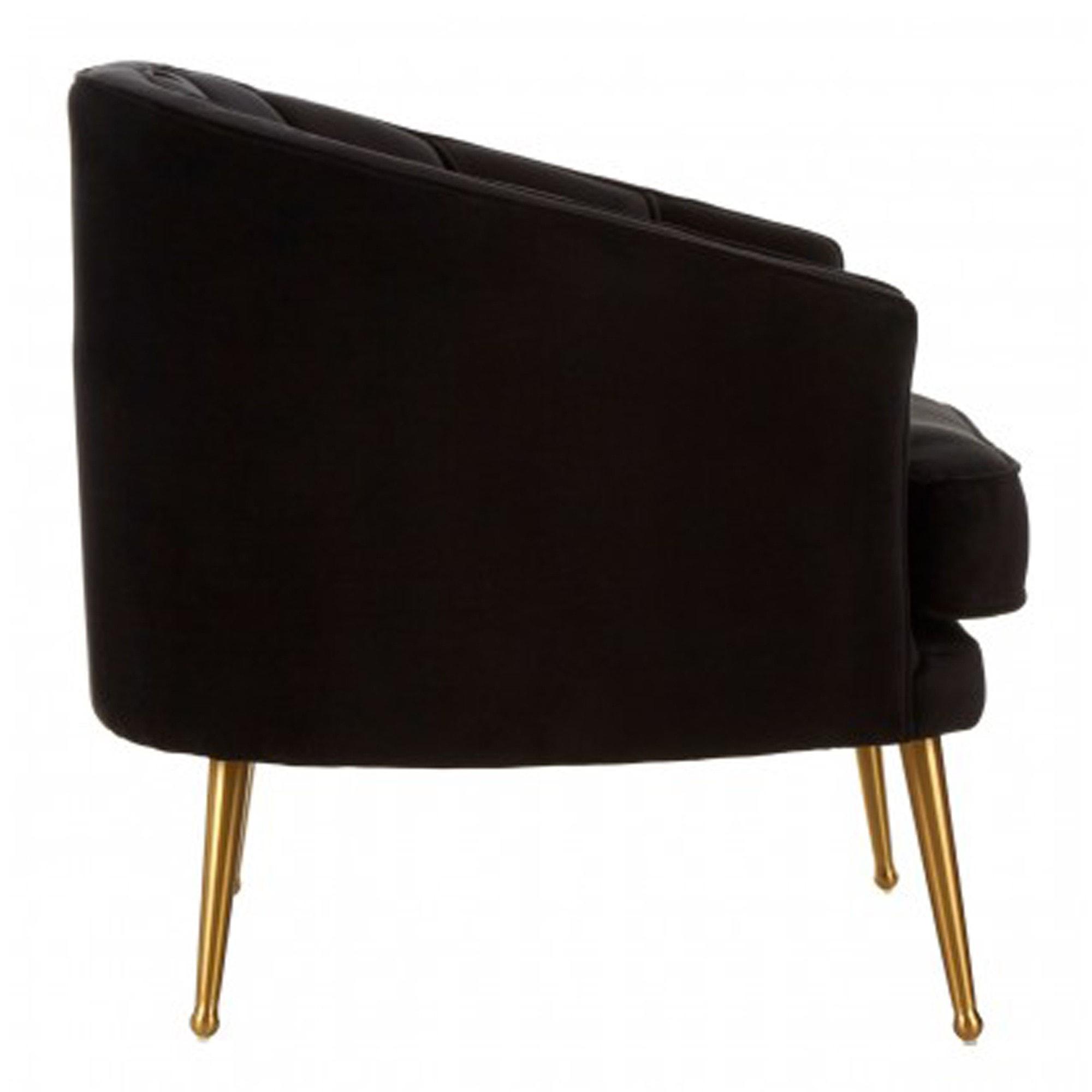 Hendricks Black Velvet Chair