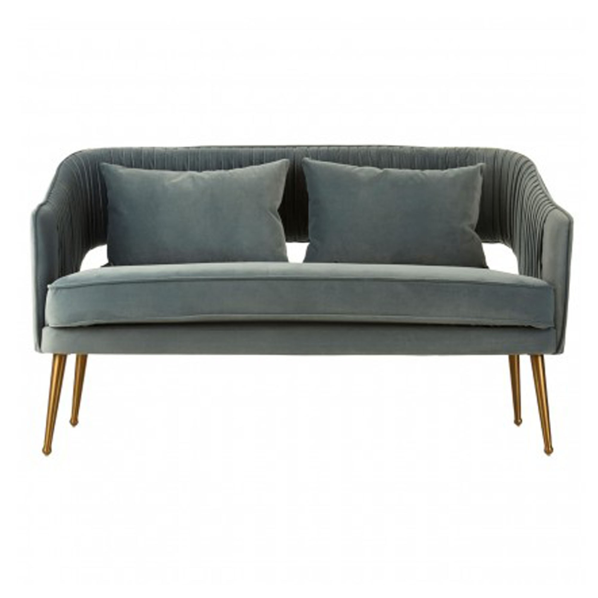 Hendricks Blue Velvet Sofa