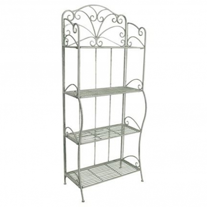 Herit 4 Tier Antique French Style Outdoor Shelf