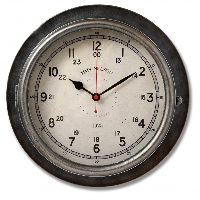 HMS Nelson Styled Wall Clock