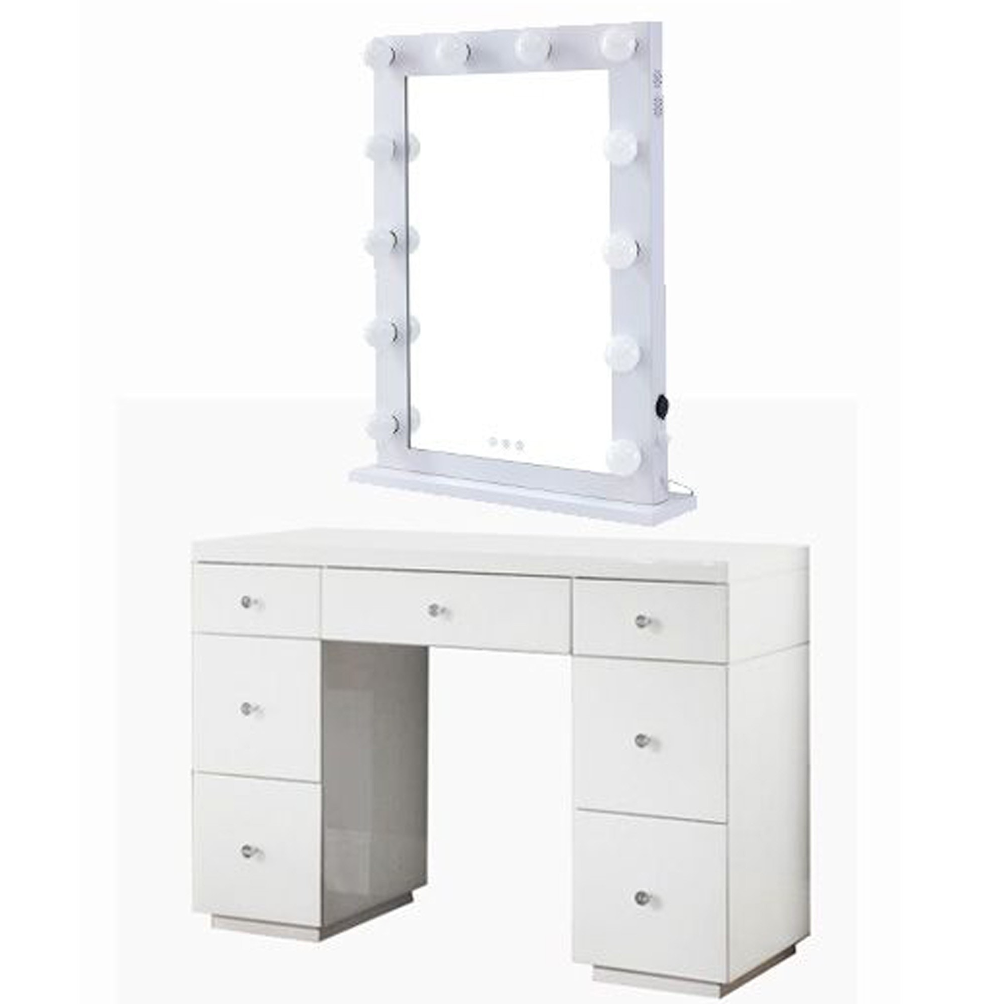 Hollywood White Dresser Desktop Mirror Hollywood Mirror White Dressing Table