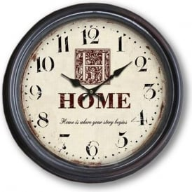 Home Is Where Your Story Begins Clock