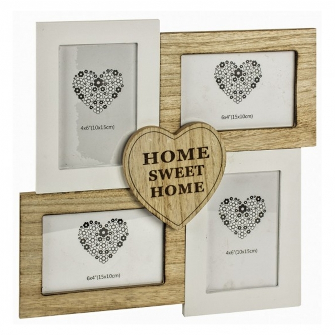 Home Sweet Home Hanging 4 Photo Frame