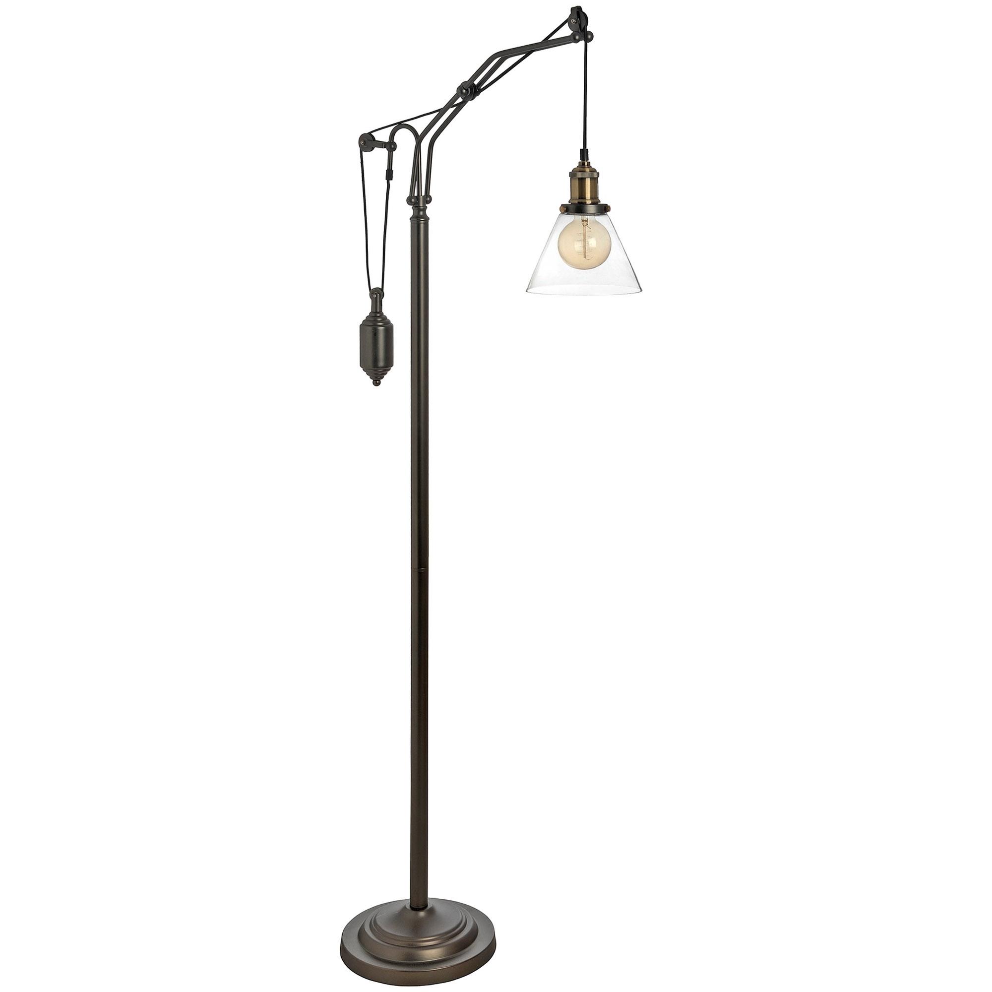 Hudson Adjustable Industrial Floor Lamp Homesdirect365