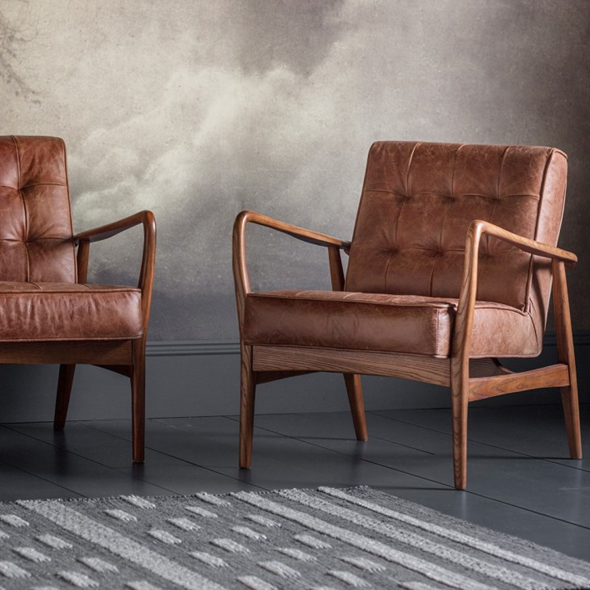 Humber Armchair Vintage Brown Leather Vintage Arm Chair