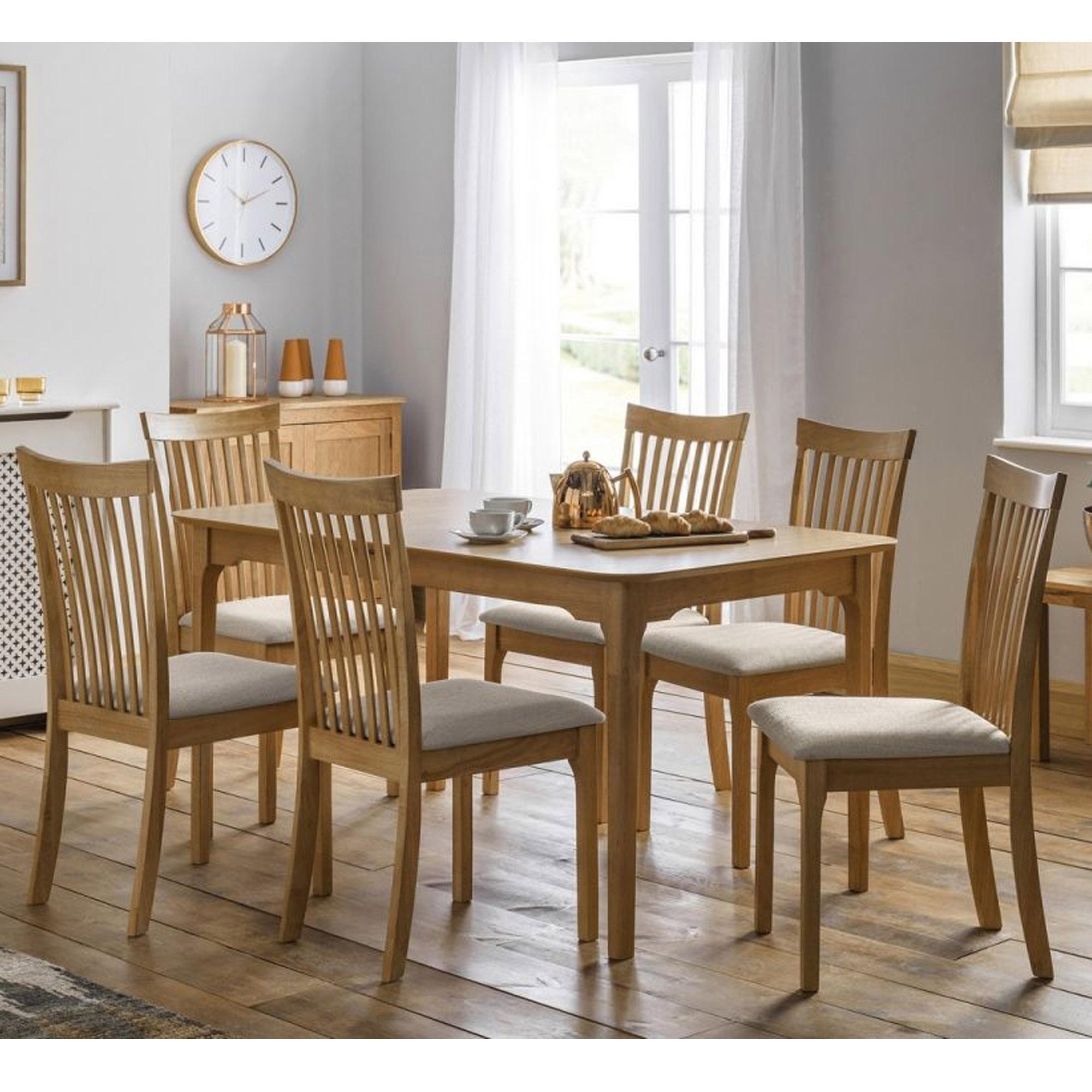 Ibsen extending oak dining set modern dining furniture
