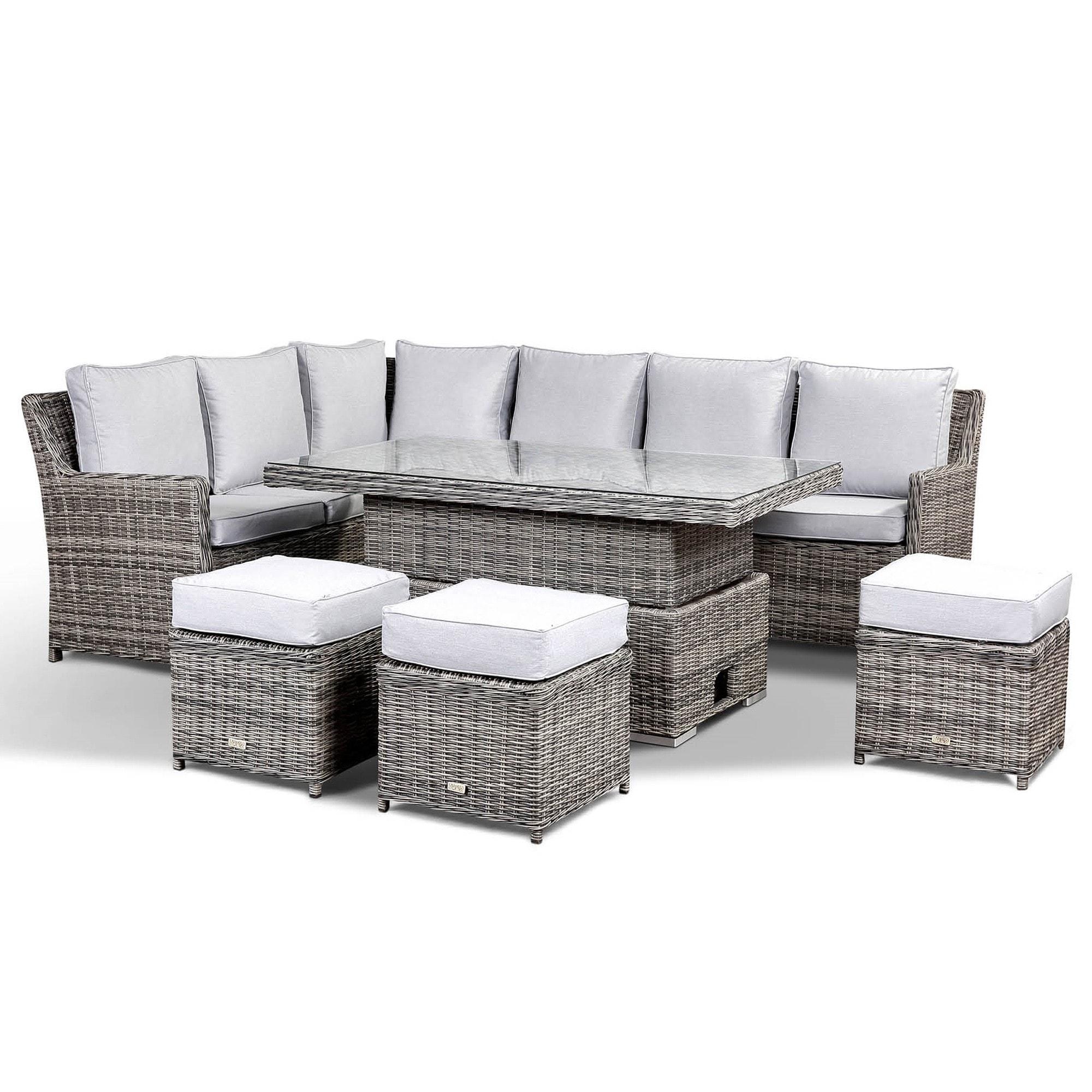 Imola 9 Seat Grey Rattan Garden Set