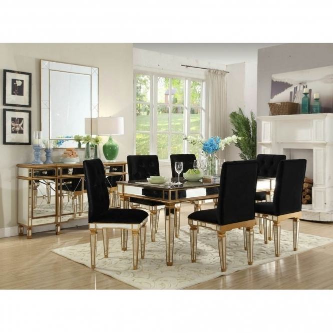Imperial Mirrored Dining Set