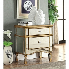Imperial Mirrored Side Table