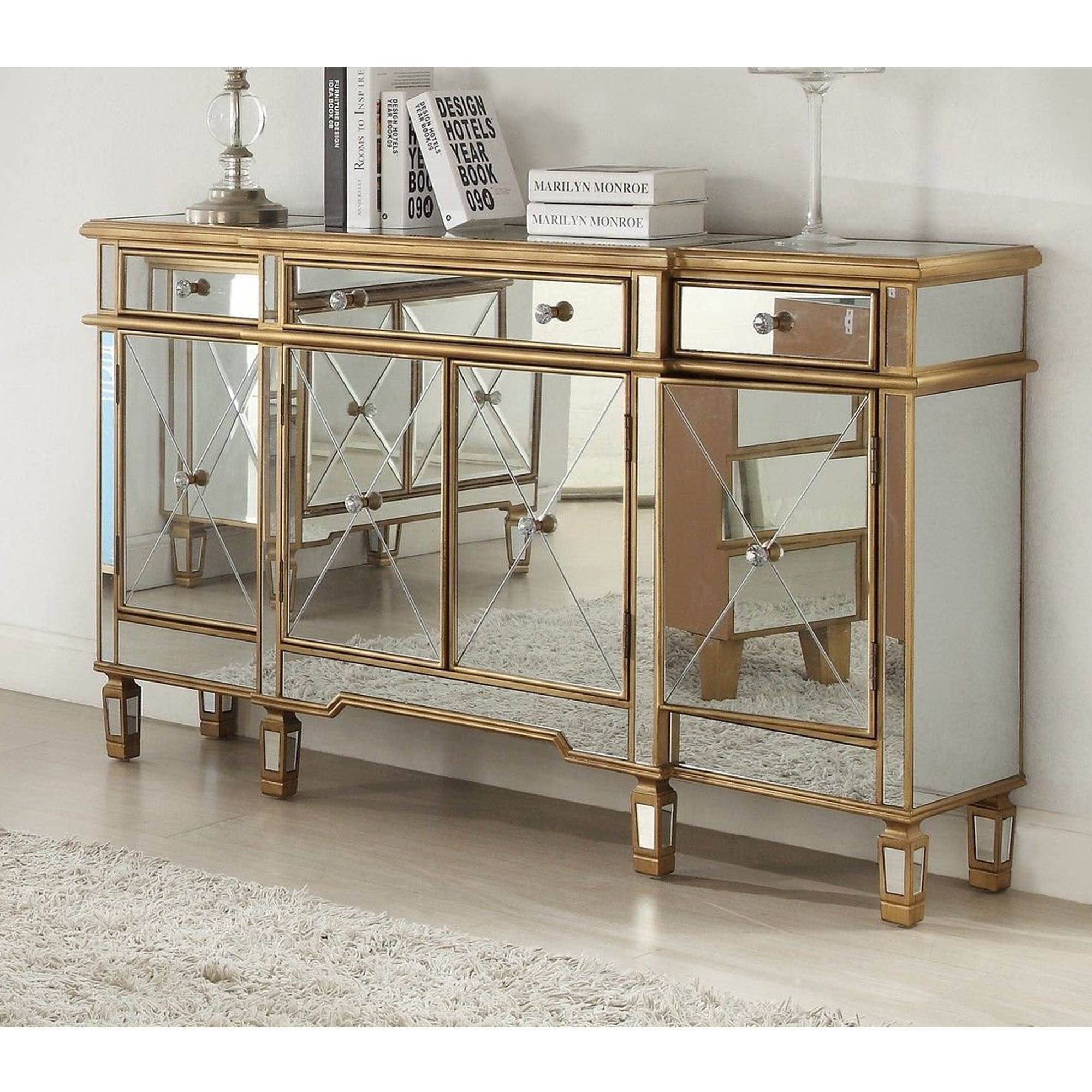 Decorating Dining Room Buffets And Sideboards Imperial Mirrored Sideboard Mirrored Homesdirect365