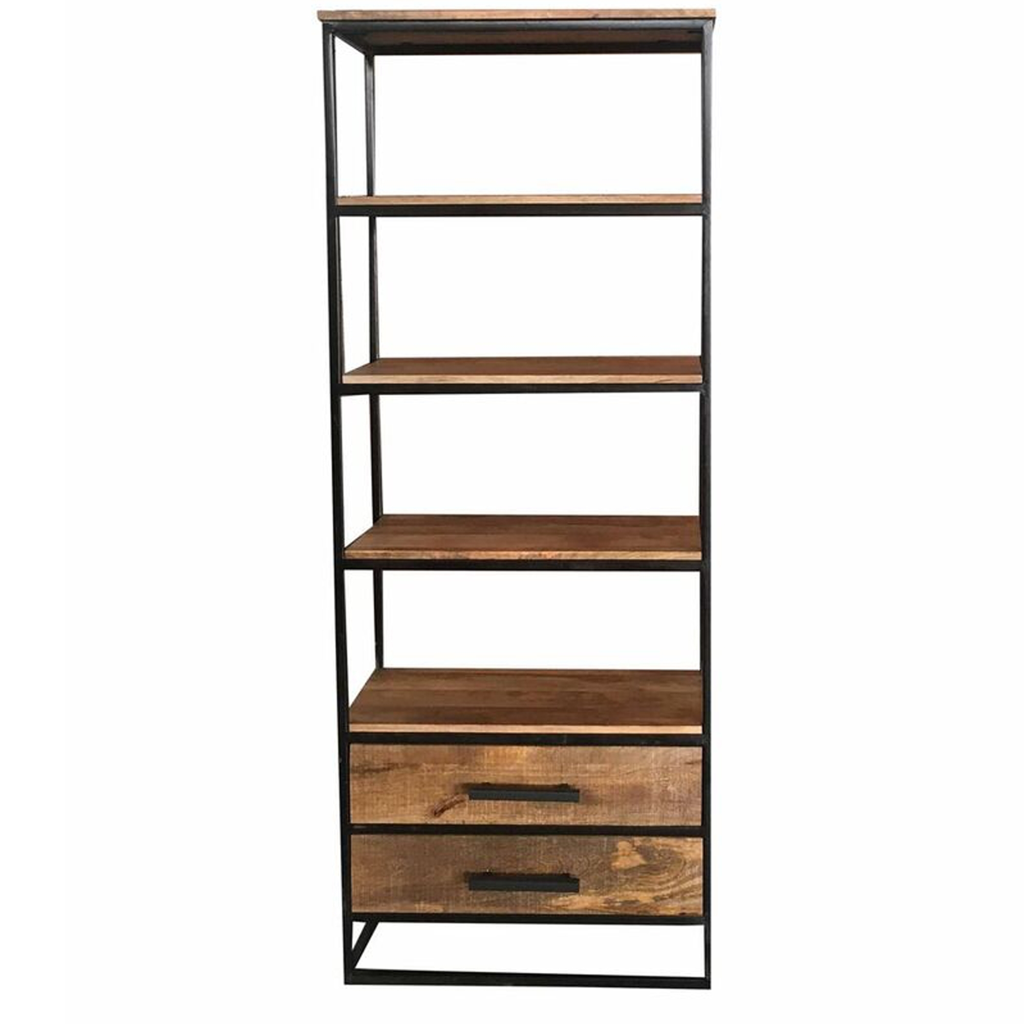 Industrial Bookcase 2 Drawer